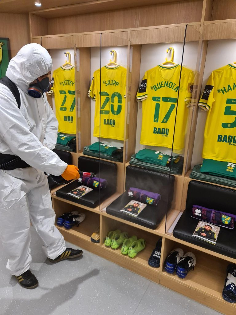 Norwich City Football Club Regional Partner changing rooms